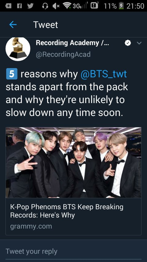 Grammys said bts paved the way <br>http://pic.twitter.com/OBCd9wYTkY