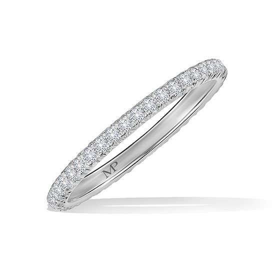 701079758f8 ... thin Marisa Perry engagement ring without being gaudy  Then look no  further. The two point micro pave diamond eternity band is your perfect band.  ...