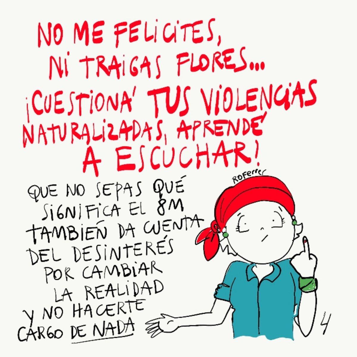 """ROFerrer on Twitter: """"Se viene #8m no hagas papelones #machirulo y no nos felicites;leé y desasnate así no se te nota cuando te la das de #feministo SE CONMEMORA, SE RECUERDA, SE"""