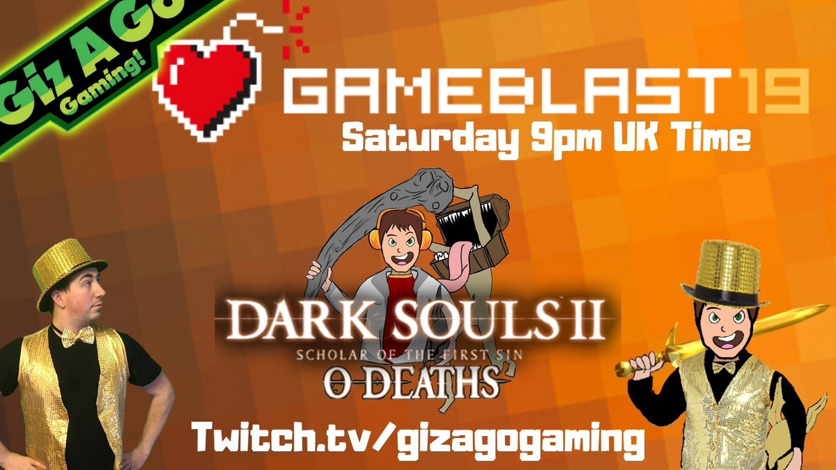 Are you hyped for tonight stream?  Can I complete a Dark Souls 2 no death run 1st time of asking?  Tonight 9pm UK Time  Each £5 donated, I'll sing a song of your choice   #GameBlast19 #charity #fundraising #singing #justgiving #Donations #StreamersConnected<br>http://pic.twitter.com/mrhuDftgcD