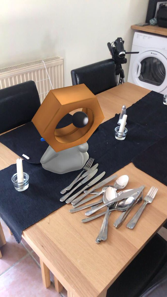 I don't like the way Meltan is looking at the cutlery #PokemonGO <br>http://pic.twitter.com/Wa4W6lSzoQ