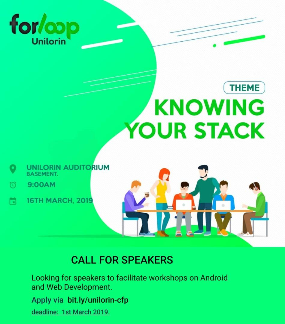 Here&#39;s a friendly call to people in different aspects of tech to give enlightening talk on their area of specialization.  Be it Web Development, Data Science, Product Design, Android Development, AI and ML, Virtual Reality and the likes. <br>http://pic.twitter.com/NWr5gkGmgx