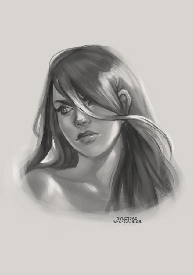 Morning twitter fam!! I'll be live on #twitch in an hour to paint MORE sketches but in the meantime, here's an awesome lady who belongs to @EnderGeno!  See you soon! http://twitch.tv/sylessae  ✏️ko-fi #88 | http://ko-fi.com/sylessae