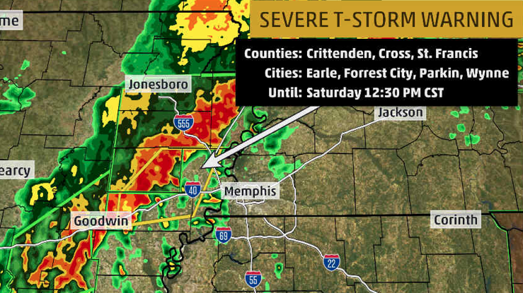 Severe thunderstorms and heavy rain will be moving into western Tennessee, including the Memphis metro area over the next hour or so. Gusty winds and flooding are likely in these storms.