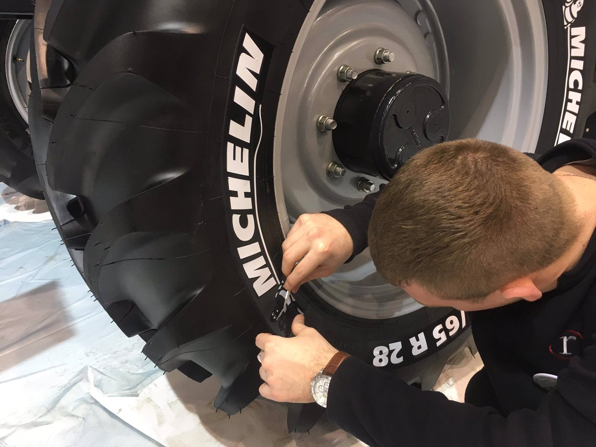 Last minute prep for SIMA2019 with @MichelinAgriUK getting the final touches