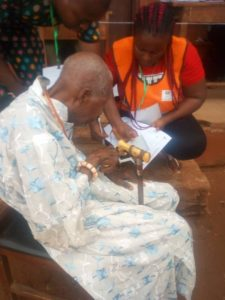 "111-year-old man votes in Benin, prays for peace  Pa Ojo Ogiegor said, "" am here to vote because as a father and community head, I desire peace and meaningful development in my locality and the state"".  #NigeriaDecides #ElectionDay #NigeriaDecide2019"