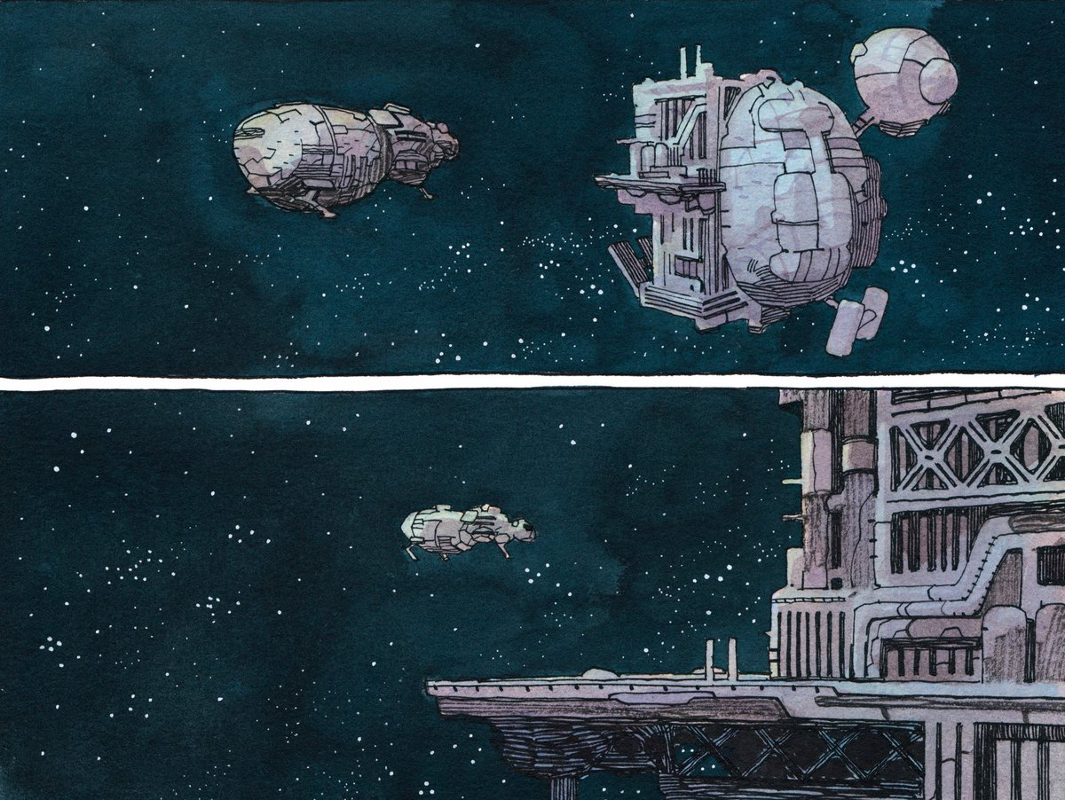 SENTIENT by Jeff Lemire &amp; Gabriel Walta is an emotional sci-fi story about an AI raising child survivors after a disaster on their colony ship.   What are your favorite #scifi stories in comics/film/tv/lit?   <br>http://pic.twitter.com/5Hxgd3oJBx