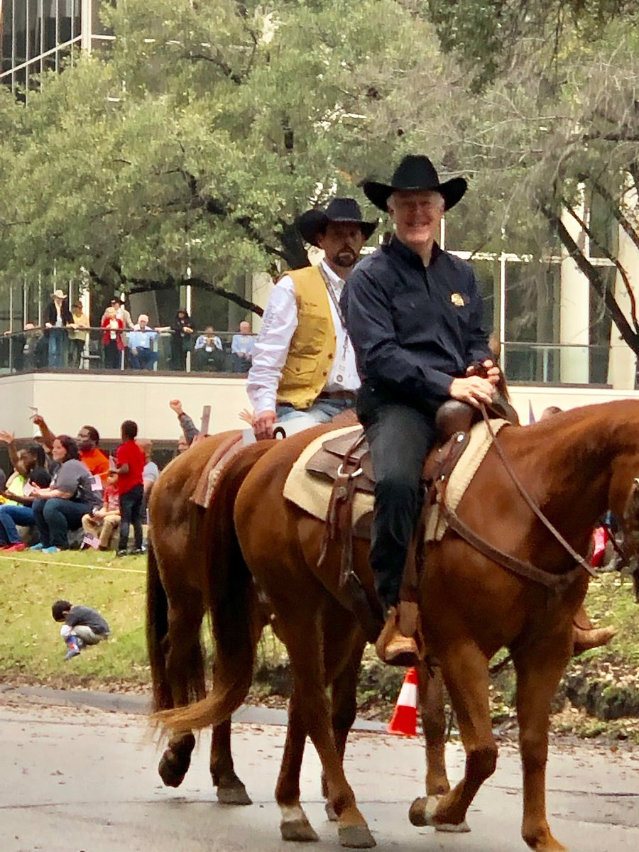 At the Houston Livestock Show and Rodeo Parade with my friend Mayor Sylvester Turner