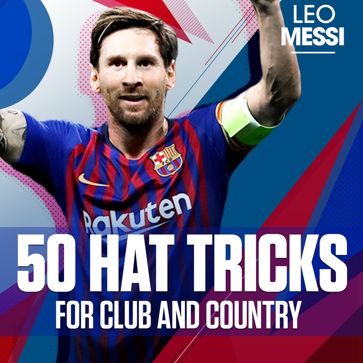 That's 50 career hat tricks for Leo Messi! 🐐