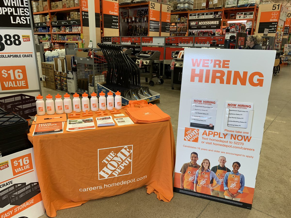 Come see us today 10-3pm....Walk in hiring event at Home Depot Blaine Lexington and 35W Store 2828 #thebigblainestore<br>http://pic.twitter.com/XwXFTZAQY0