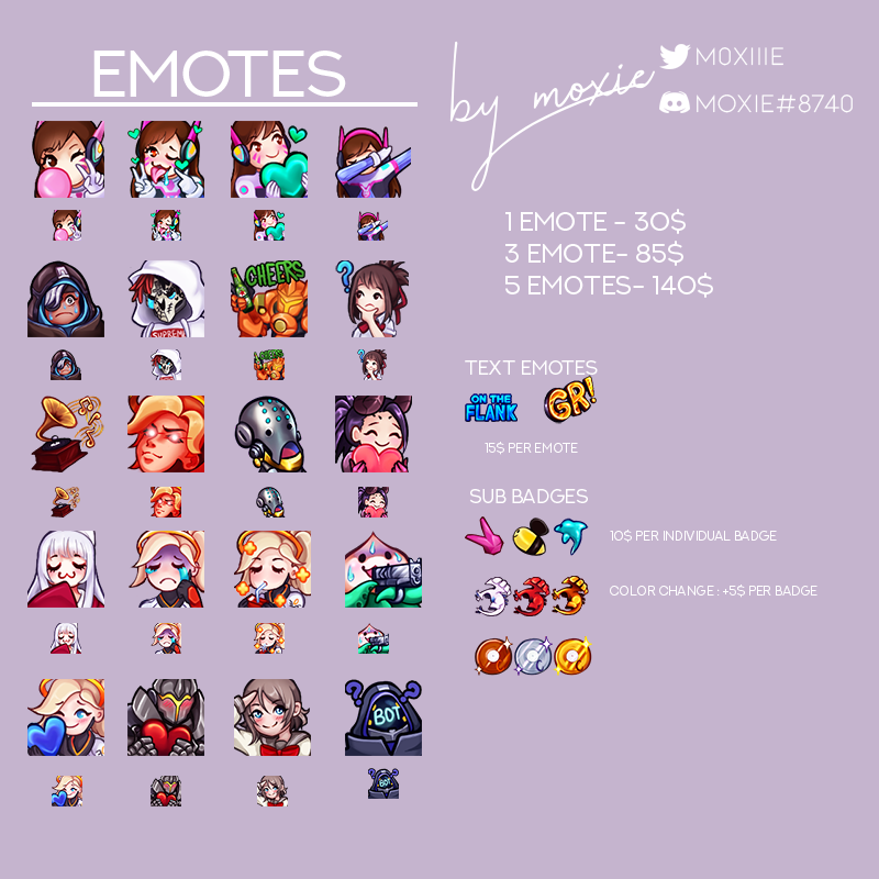 Hi! My name is Moxie, and I&#39;m a #twitch streamer and emote artist! My commissions are currently OPEN! I would appreciate any retweets/likes. Thank you! <br>http://pic.twitter.com/1DntlR8YK6