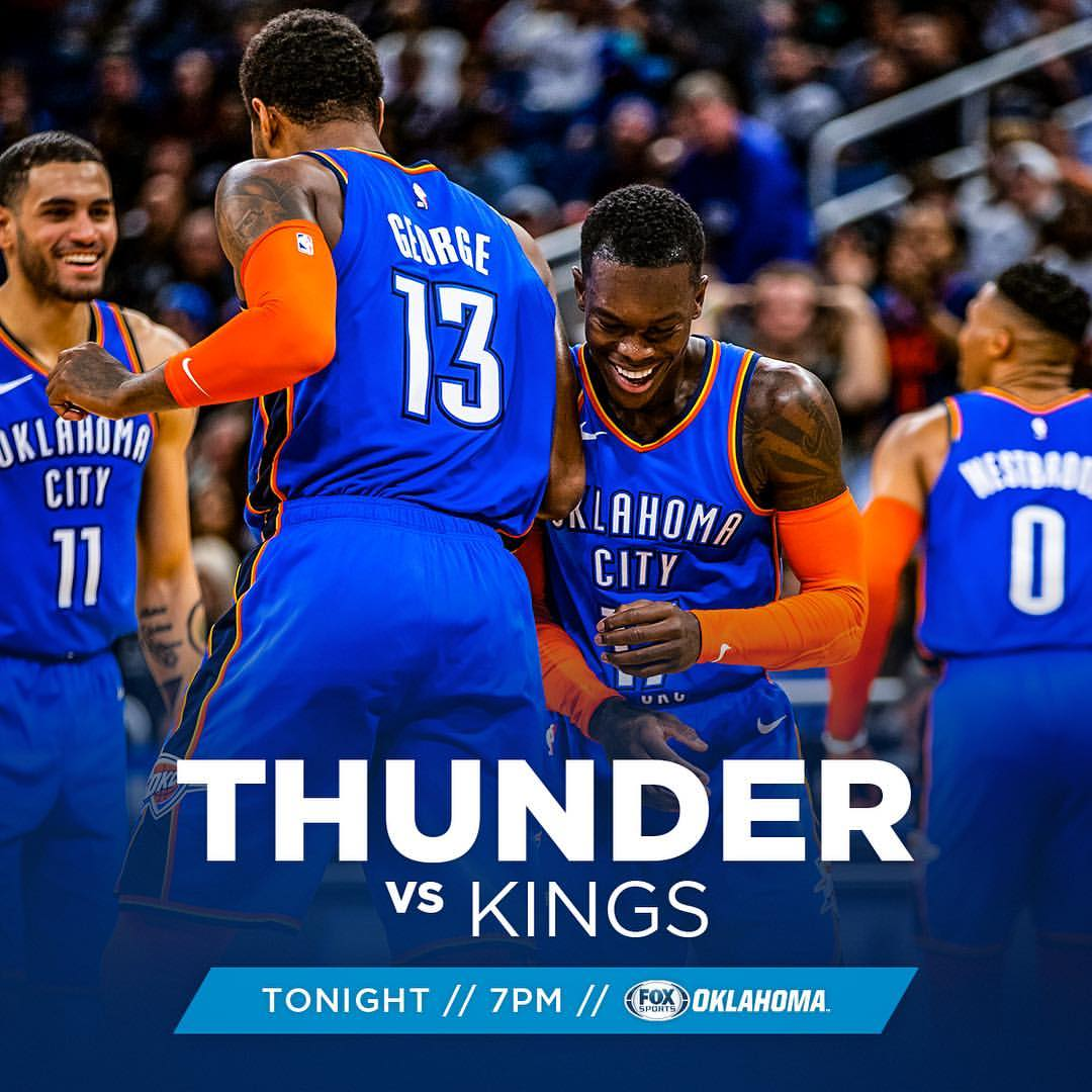 ⚡️ MAÇ GÜNÜ!  Bugün, sezonun 59. maçında @SacramentoKings (30-28) ile karşılaşacağız. Chesapeake Energy Arena'da oynanacak müsâbaka, TSİ 04:00'te başlayacak. #ThunderUp