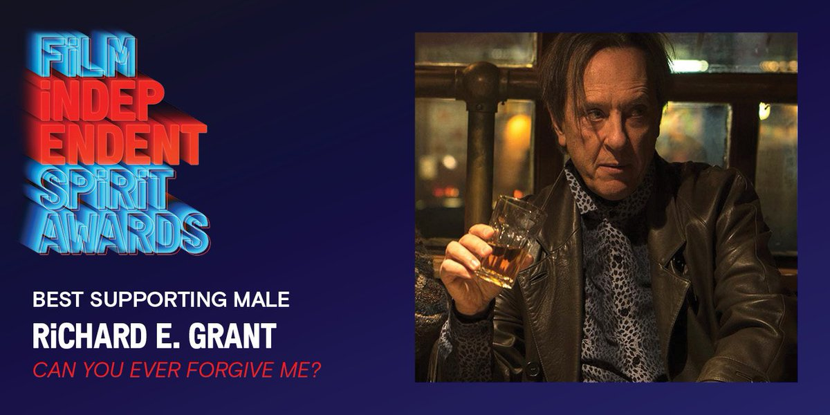 BEST SUPPORTING MALE goes to @RichardEGrant for @cyefm #SpiritAwards