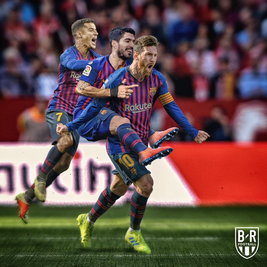 Leo put Barcelona on his back today 🔴🔵