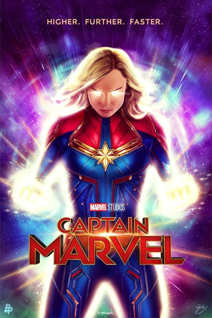 Here&#39;s your look at the Marvel Studios&#39; #CaptainMarvel -inspired poster from artist @SamGilbey! <br>http://pic.twitter.com/zuPIpvcrHC