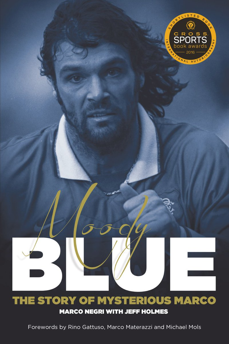 Giveaway time! To be in with a chance of winning Moody Blue, the Marco Negri story in hardback (shortlisted for Best International Autobiography at Cross British Sports Book awards in 2016) just follow me &amp; retweet. Winner picked at random at 10pm tomorrow (Sunday). Good luck  <br>http://pic.twitter.com/FsgzoU6mZt