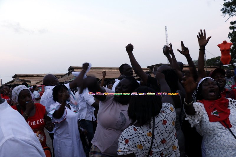 Some NDC Supporters Jubilating Over Mahama's Victory in Accra  #ElectionHQ