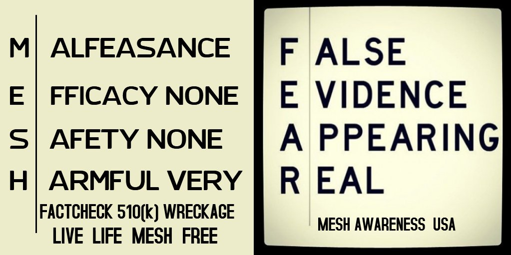 However much you the deny truth, the truth goes on existing #Surgical #Mesh #Toxic pieces of #Plastic that are #Biochemically Engineered NO matter what it is coated, layered, injected with, it will always be a piece of #Toxic #Plastic #Poison Its time to #CleanThisMeshUp #FDA