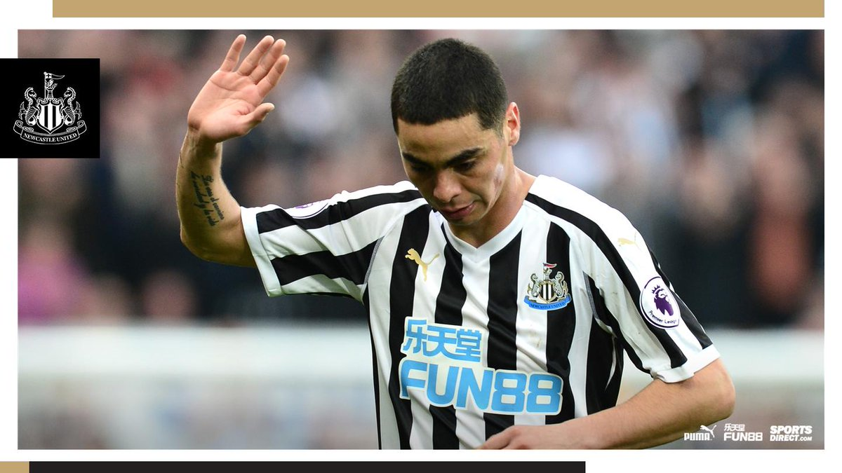 🙋🏼‍♂️ He may not have marked an electrifying home debut with a goal, but it looks like Miguel Almirón has been practising his @alanshearer celebration for when he does get on the scoresheet!  What did you make of the Paraguayan's performance this afternoon?  #NUFC