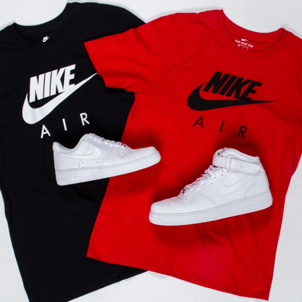 factory authentic ef273 e28fa classics nike air force 1 low amp mid nike air tees are now in stores and