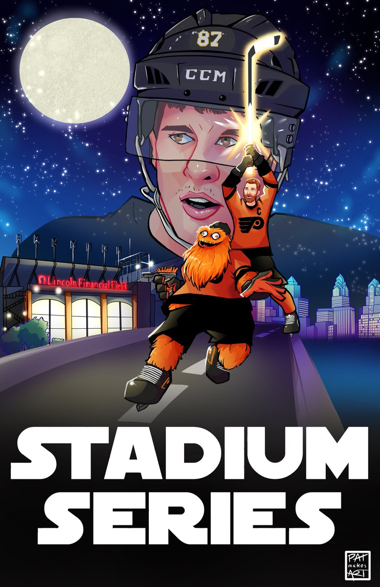 """Help me @GrittyNHL, you're our only hope."" #LetsGoFlyers  #stadiumseries #PHLvPIT<br>http://pic.twitter.com/wVDC0bK2C1"