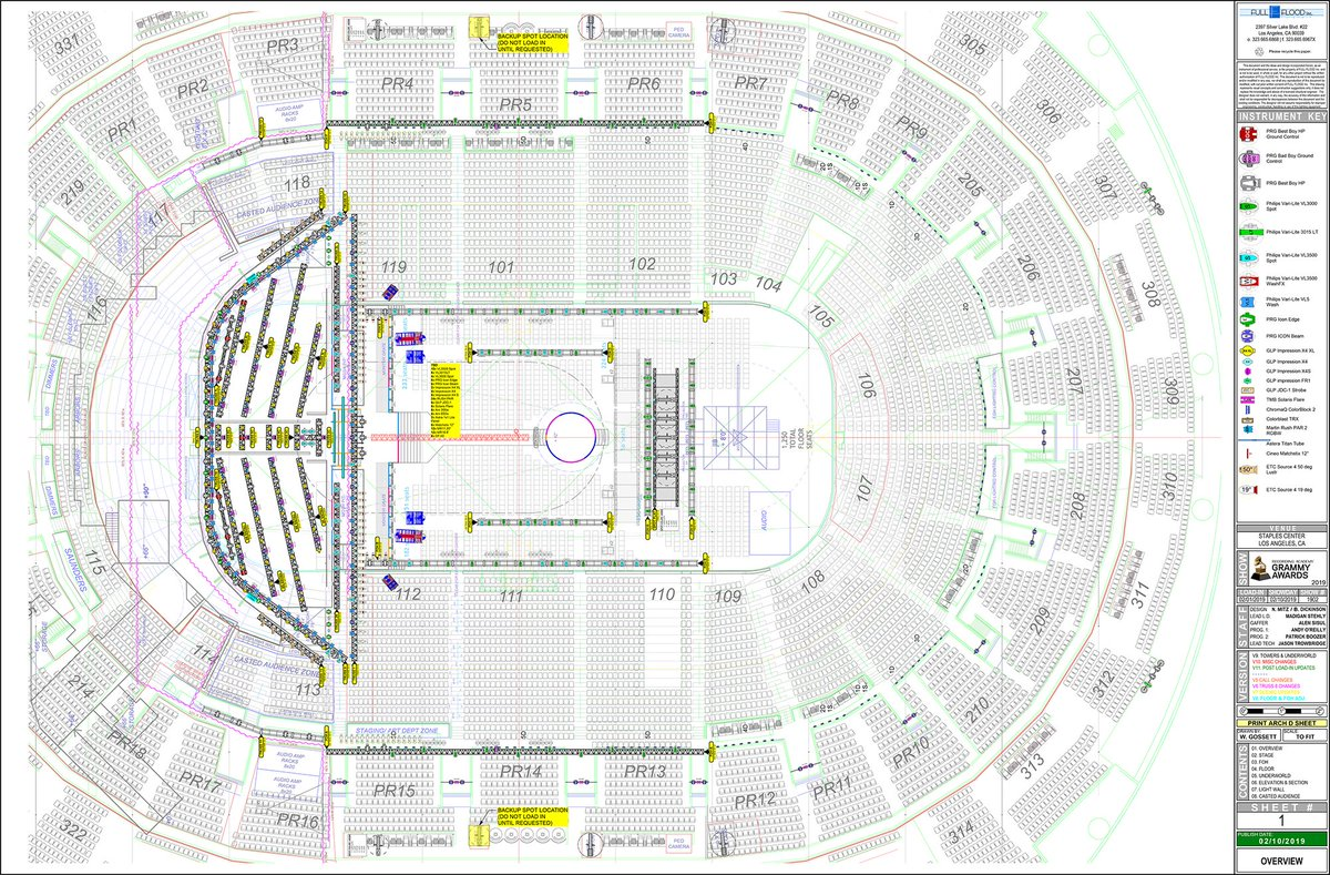 Lighting designers Bob Dickinson and Noah Mitz of Full Flood share their lighting plots, crew, and gear list for the #Grammys2019  http:// ow.ly/n42A30nNRdL  &nbsp;   <br>http://pic.twitter.com/8Tlc1GAkzd