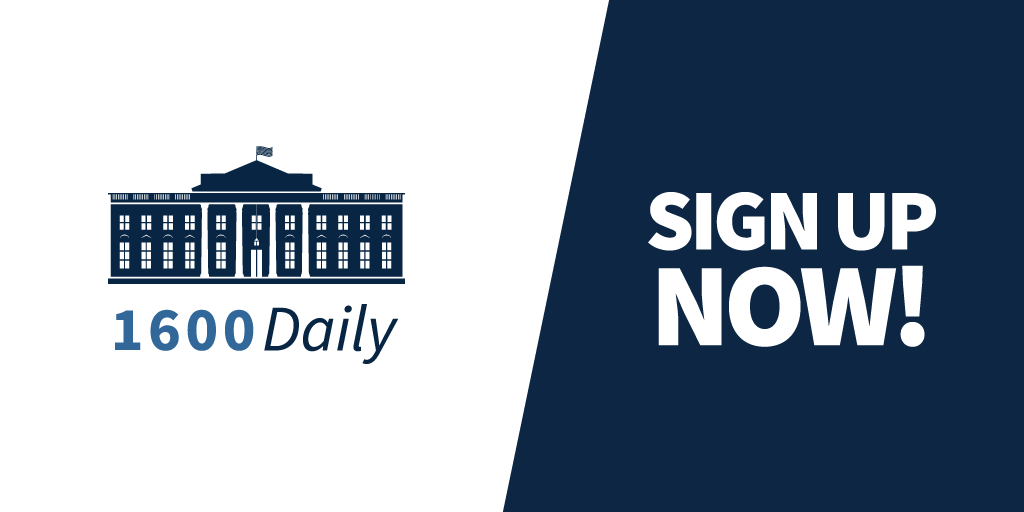 On his first day in office, President Trump pledged a great national effort to rebuild the United States of America.   1600 Daily gives you an inside look at what the Trump Administration is doing every day to keep that promise.  Sign up now:  https://t.co/09rDuv5rrD