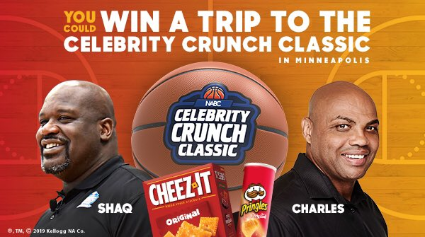 Hey @TexasLonghorns, it's time to rally your crew. @CheezIt and @Pringles are sending fans to Minneapolis to see Shaq and Barkley coach it out at the Celebrity Crunch Classic. Tweet using #CrunchClassicEntry for a chance to WIN. #ad  For Rules http://opndr.se/08q5