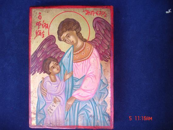 byzantine .orthodox .guardian angel.greek icon.archangel ange gabriel.christian l'icône. Religious.Hand peint 60x40cm (15 3/4 x 23 5/8po) https://etsy.me/2ILrUzF via @Etsy @H2H_news @ChCatalina1 @eevriviades @PaoloRibe @Zastrognyi_K @youthpv @ocaorg @rocorpk @Milos1389Obilic