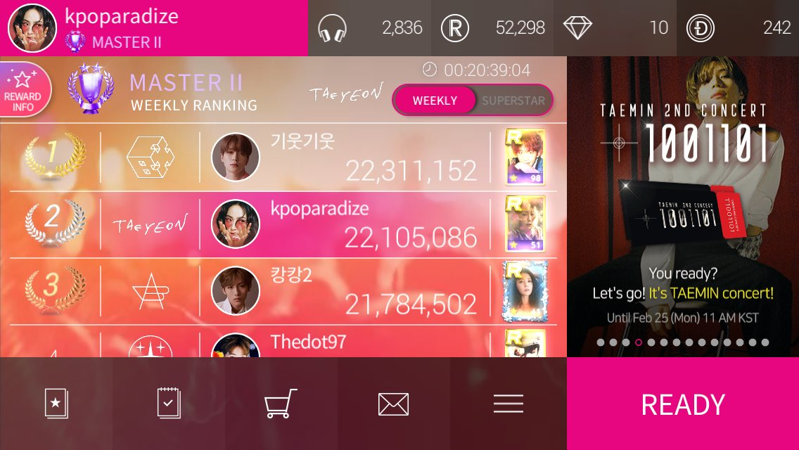 2nd place, let's see how long this lasts lol  #superstarsmtown <br>http://pic.twitter.com/n3YCpeAy5n