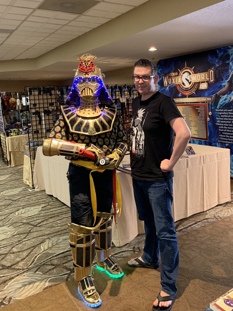 Best costume at #ConDorCon 🤩 #DudeVader #wuxiaworld #wuxia