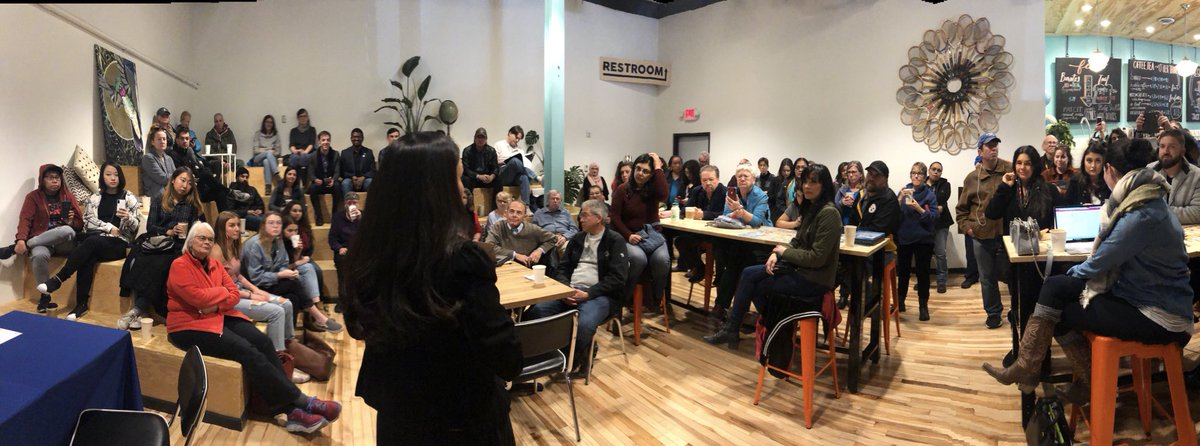 Packed house at @humblecoffee Downtown for my Coffee with Your Congresswoman event! #Coffee #SaturdayMotivation<br>http://pic.twitter.com/vTWBZwj1Rl
