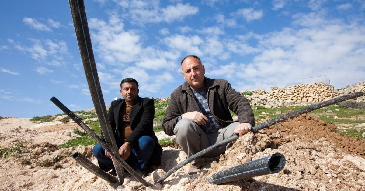 Palestinians hooked up their village to lines that gave them clean water. Then Israeli forces arrived, dug up the water pipes, cut and sawed them apart and watched the jets of water that spurted out. Now the villages don't have clean water. https://www.haaretz.com/israel-news/.premium-why-doesn-t-israel-want-palestinians-to-have-running-water-1.6959524…