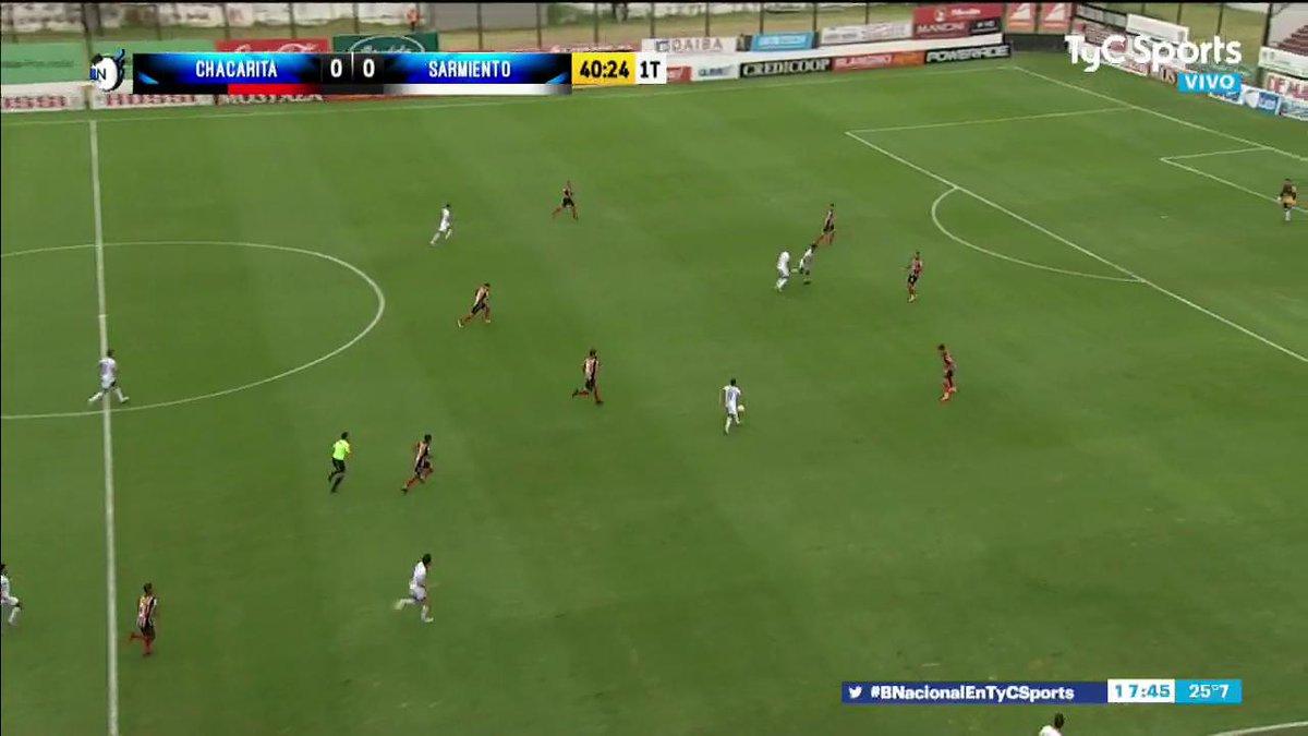 #BNacionalEnTyCSports ⚽️ ¡Gol de Sarmiento! En el final del 1T, Miracco pone el 1-0 para poner la punta de la tabla bien verde.  *Seguilo por TyC Sports y https://t.co/9hQFpiHZlA (https://t.co/clurtlTo3K)