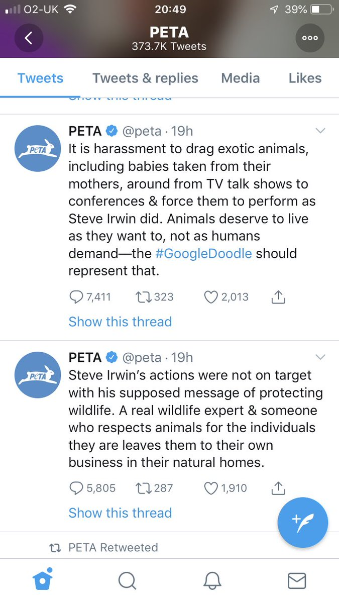 This coming from an organisation that euthanised 1,400 animals out of 2,000 in its care in 2016! #PETA<br>http://pic.twitter.com/tgkHERgDxi