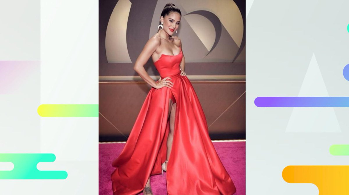 Elegante Omg Vestido Rojo Greeicy Rendon Elegante Sensual