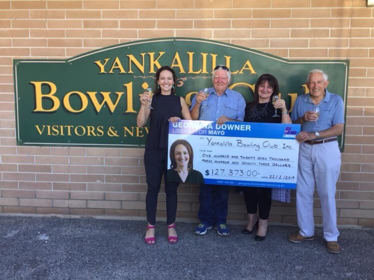 It's featuring un-elected Ms Downer's pic on the cheque funded by taxpayers — as if she had dipped into her own dosh — which makes this stunt grippingly bold.