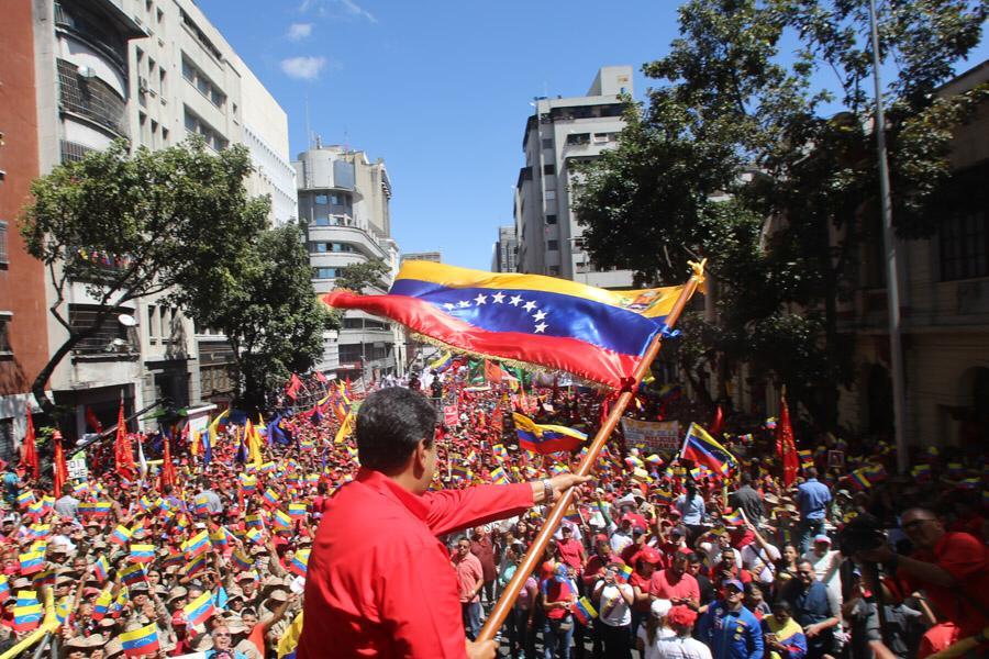 Nuestro pueblo ha salido a las calles de Caracas y de toda nuestra Patria con la firme determinación de defender la paz de Venezuela y decirle a Donald Trump y al imperio norteamericano: ¡Yankee Go Home! #VenezuelaEnDefensaDeLaPaz