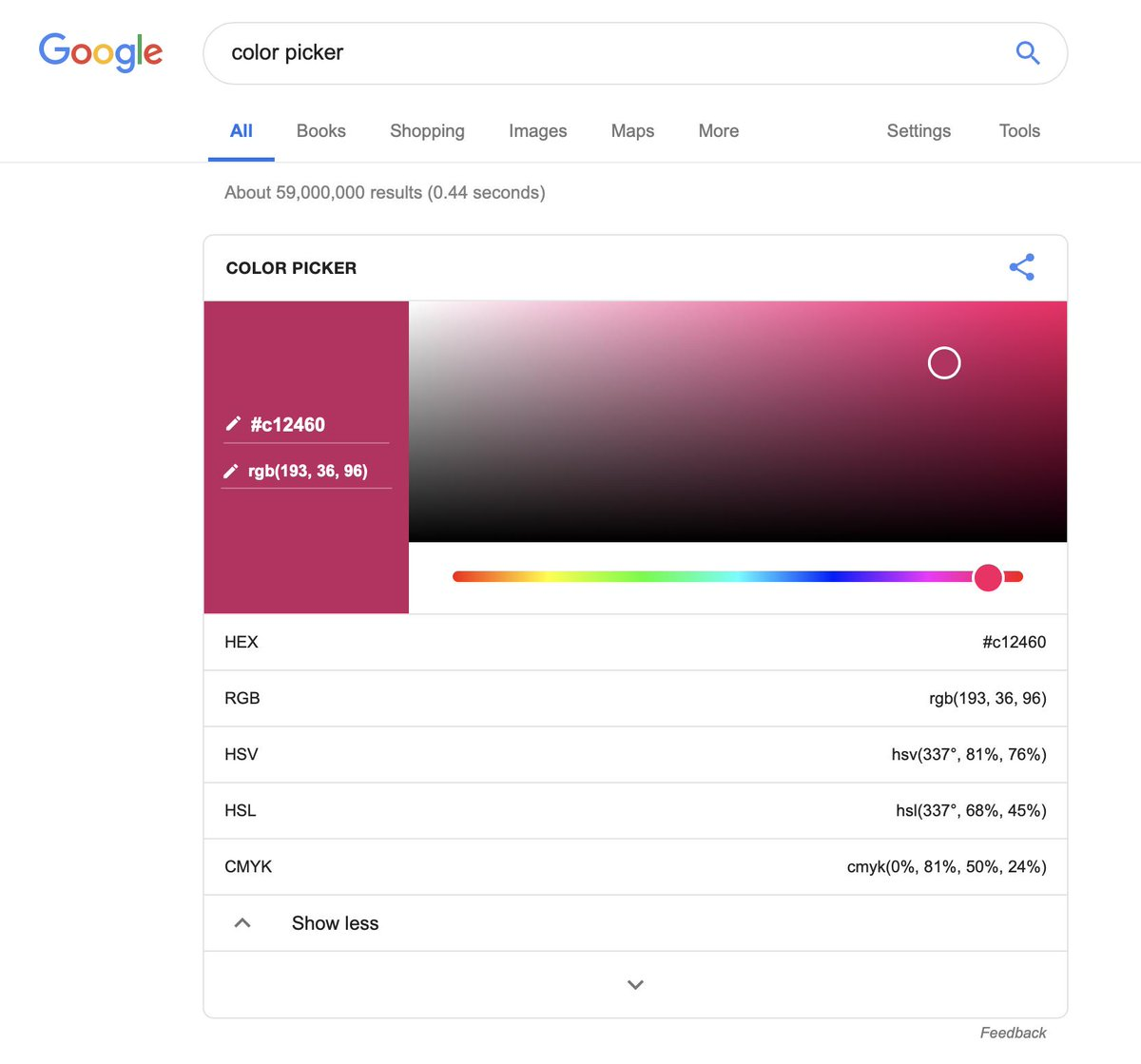 WHOA I DID NOT KNOW THIS WAS A THING???? Google 'color picker'. Coooooool 🤓💖