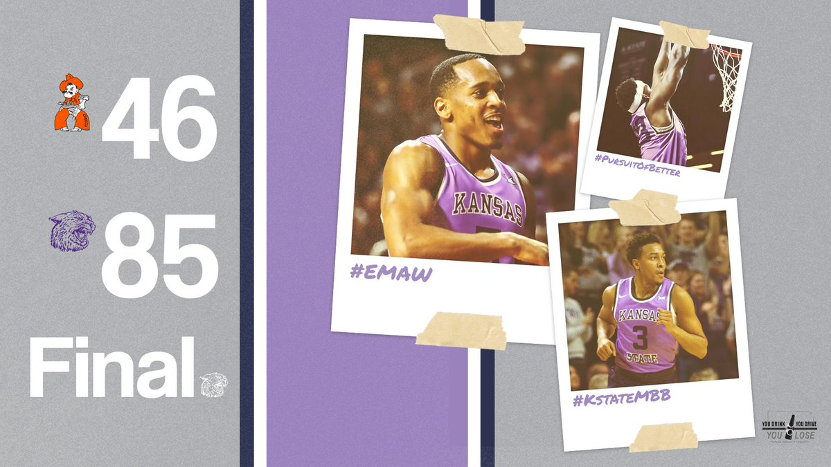 Cats Win!  First-place #KStateMBB beats Oklahoma State, 85-46<br>http://pic.twitter.com/Md24AUPSDA