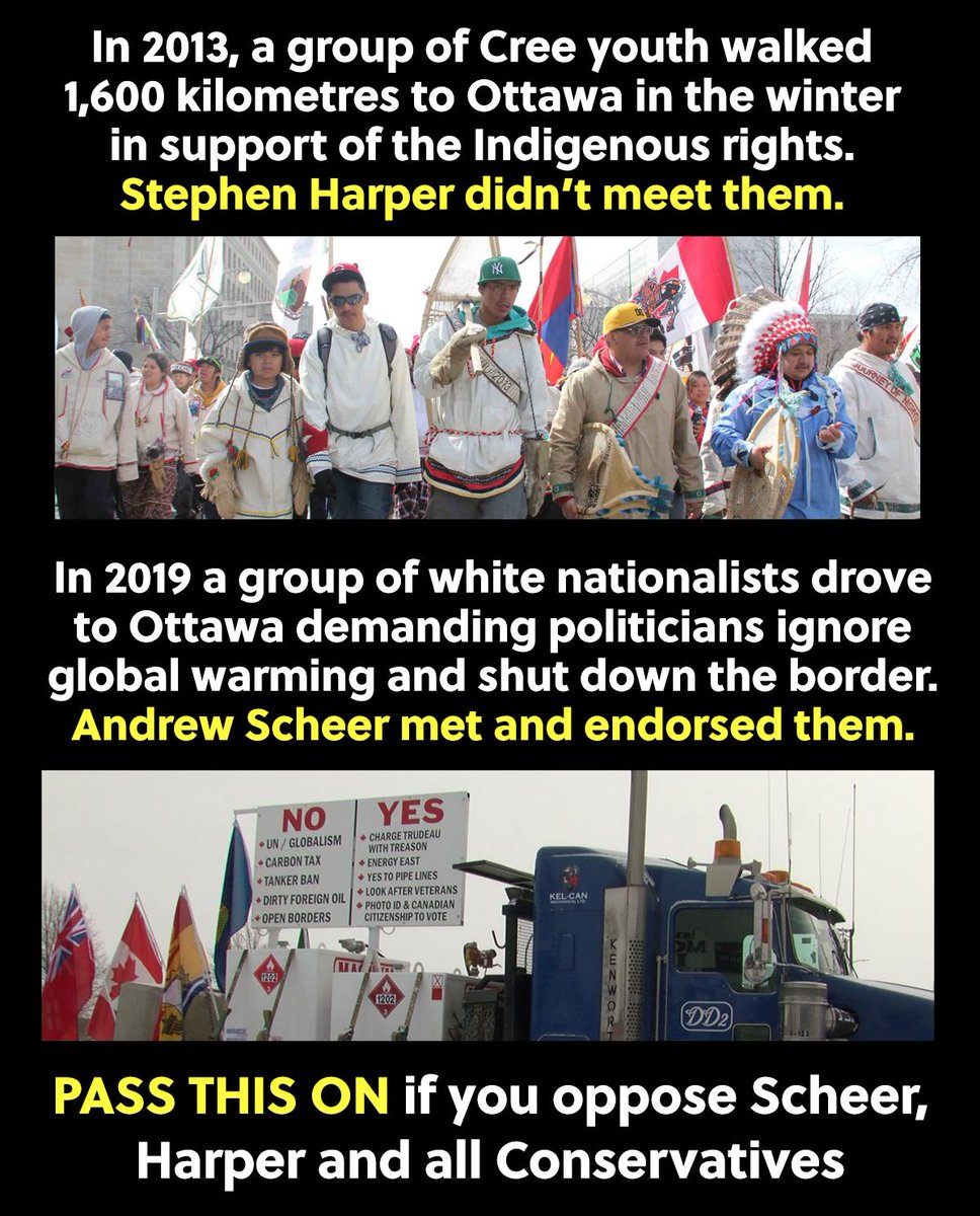 Conservatives think far-right climate change deniers are more important than Indigenous people #cdnpoli<br>http://pic.twitter.com/XTuOQPATWl