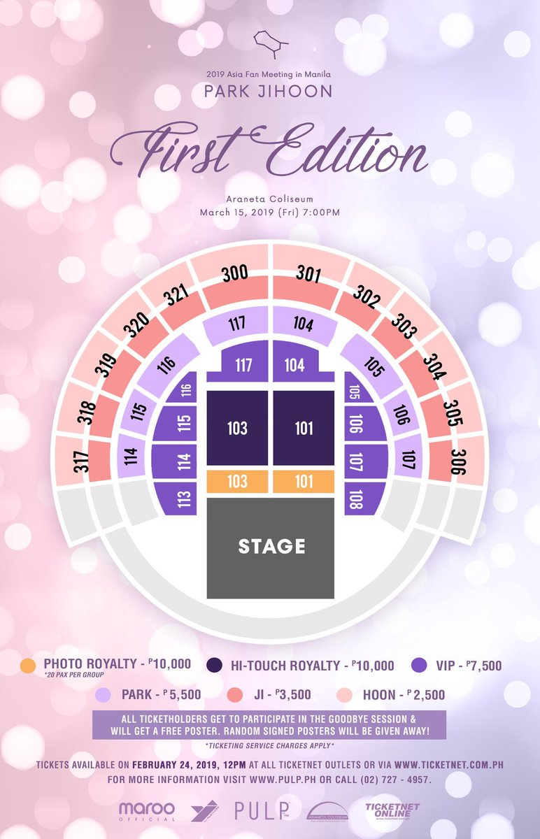 there&#39;s a changes in seatplan especially for the hi-touch! section 116,117,104 and 105 are now hi-touch royalty  #PARKJIHOONinManila<br>http://pic.twitter.com/tfpZdhmcI2