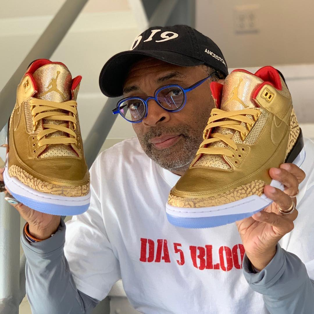 c5df852e7cb Michael Jordan and Tinker Hatfield gifted Spike Lee gold Air Jordan 3s for  the  Oscars