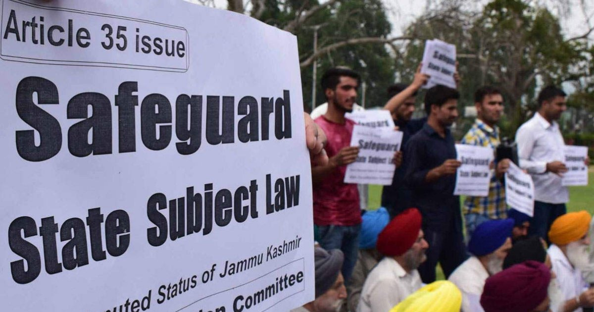 Government may review its stand on Article 35A   READ: https://t.co/8sU8W6uXMZ