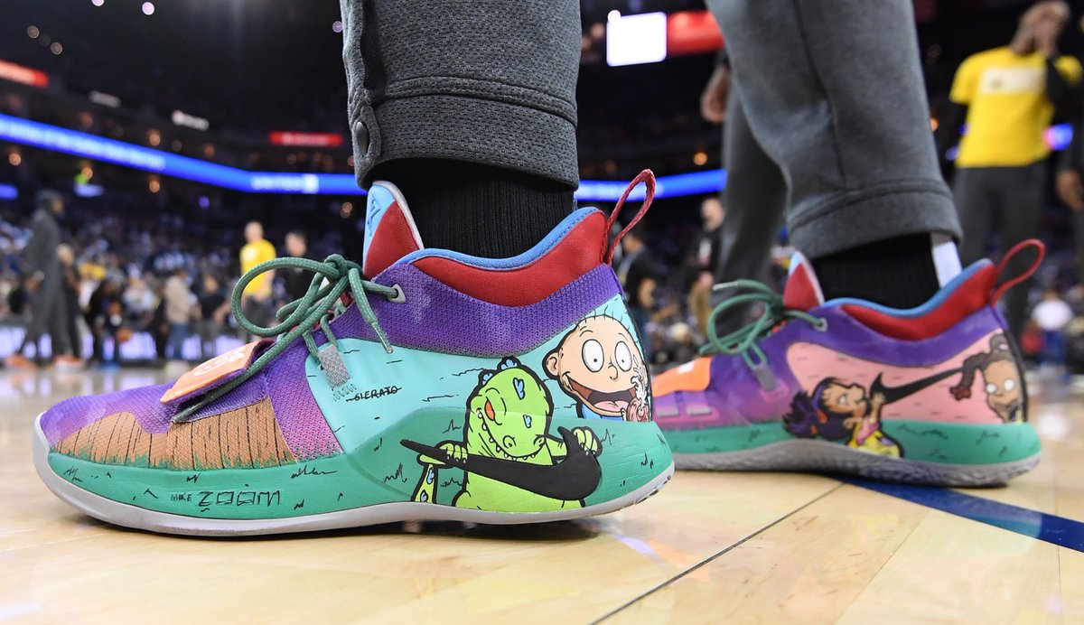 9f7718ca4111 rugrats is a vibe in sneakers right now check out s custom nike pg 25s by