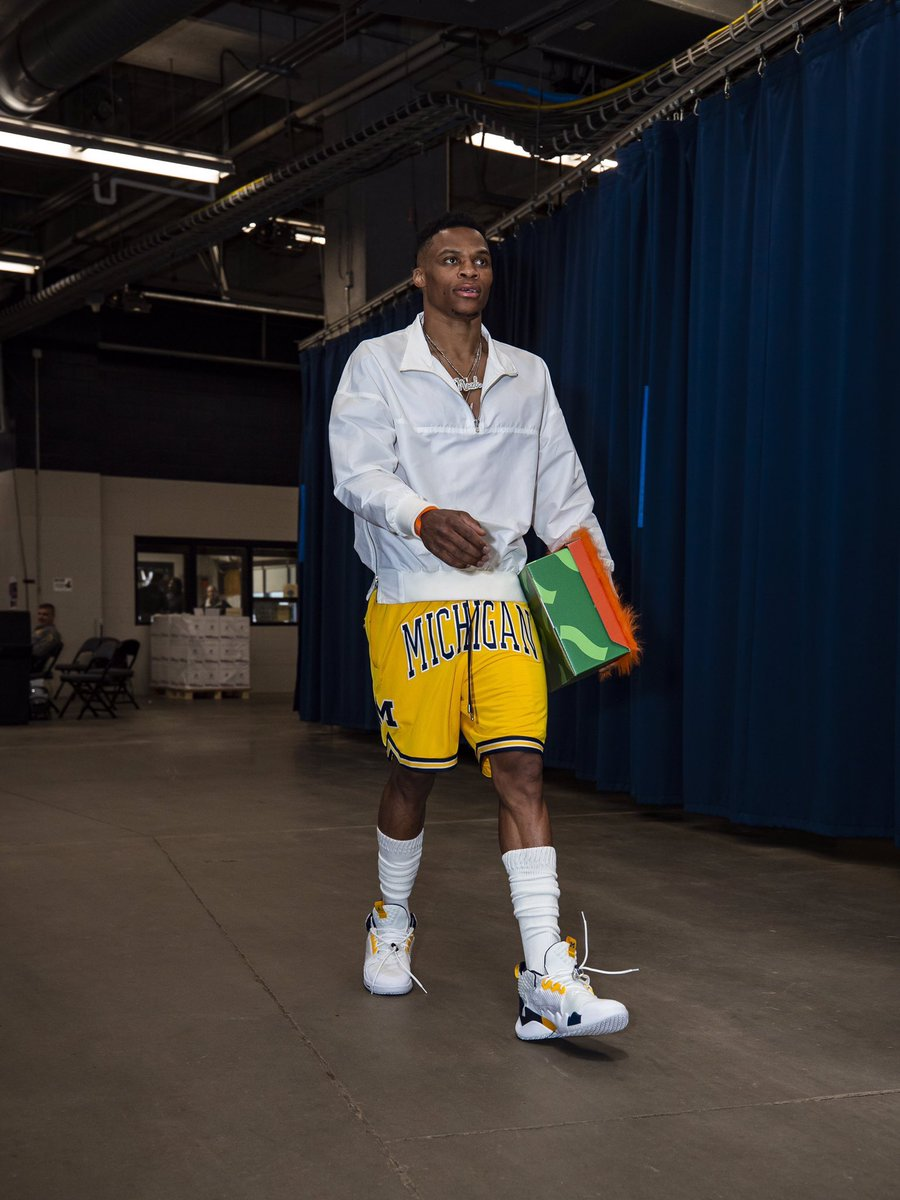 Russell Westbrook rocked @umichbball