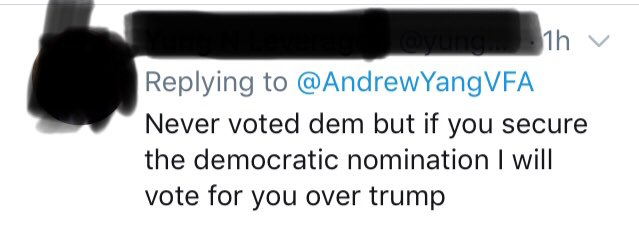 @TheDemocrats @AndrewYangVFA At the risk of belaboring the point, tweets like these are commonplace.