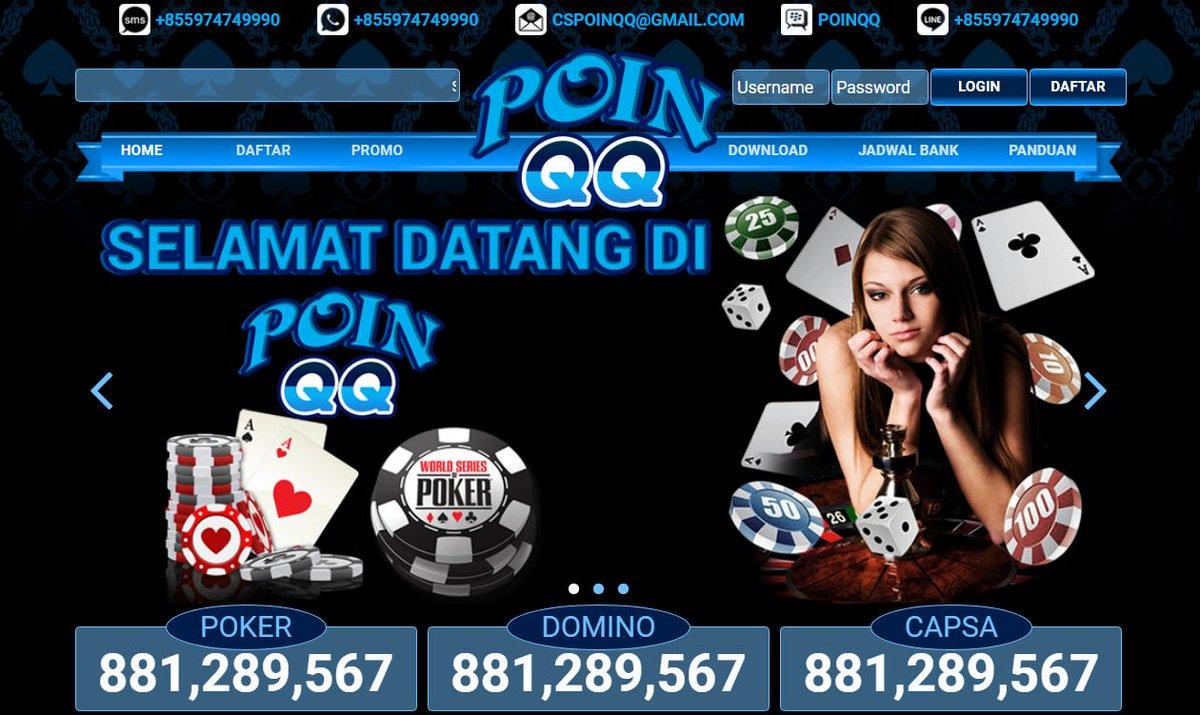 Situs Judi Qq Online Bandarq Pkv Games Qq Cs Poinqq Twitter