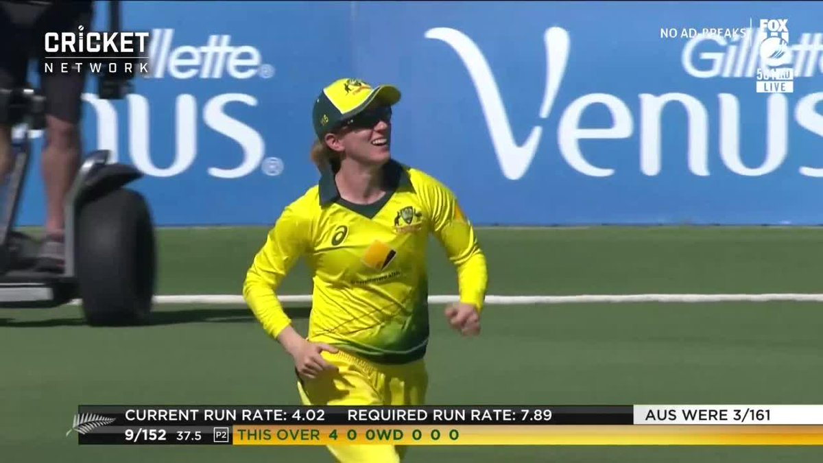 CATCH! Rachael Haynes holds onto an absolute screamer to seal the win in style! 👏👏👏 #AUSvNZ