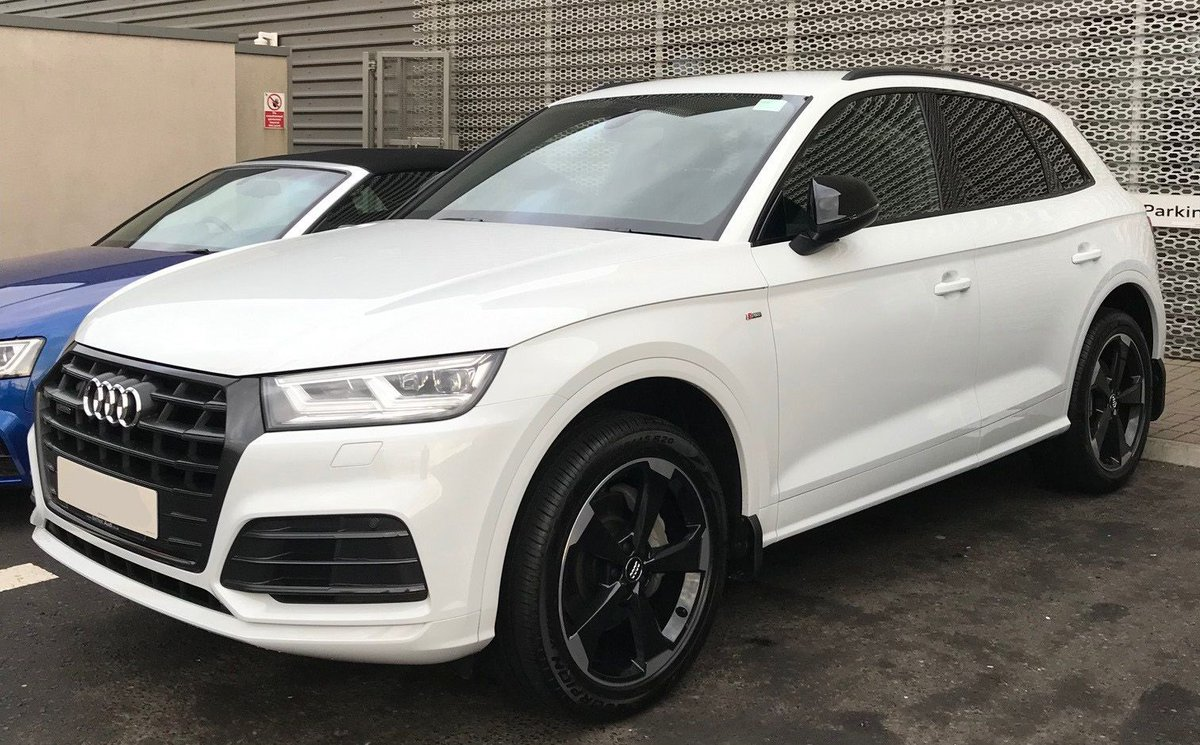 collecting his new audi q5 s line black edition finished in glacier white from sales executive ryan todd best of luck with your new car